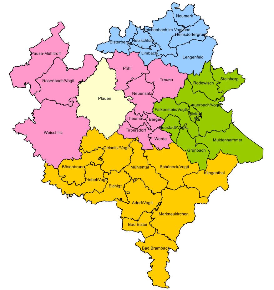 Vogtland Sozialregionen