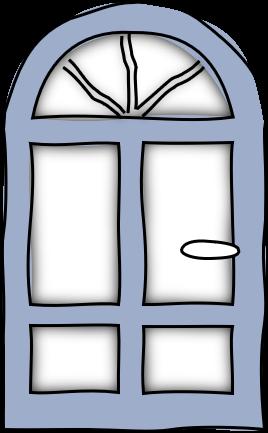 Tür-skizziert-blau