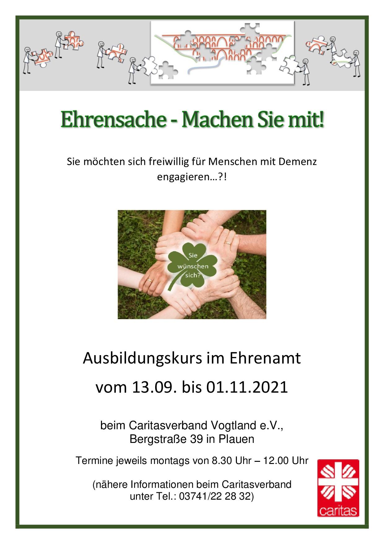 Plakat Kurs Ehrenamt